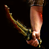 kate: Dean's arm, sporting the Mark of Cain and holding the First Blade (SPN: Mark of Cain/First Blade)