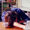 kate: Sam from Supernatural dead asleep on the table (SPN: Sam wiped out)