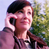 kate: Jody Mills from Supernatural on the phone (SPN: Jody Mills smiley)