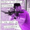 saone: (Jensen has a crossbow)