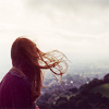 betonprosa: Woman overlooking landscape (the man who loved the earth)