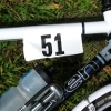 "bikingandbaking: photo of my road bike with a tag reading ""51"" on it (lucky number 51)"