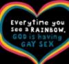 simplysly: (t-shirt hell gay god) (Default)