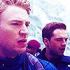 sholio: Steve and Bucky on a snowy mountainside (Avengers-Steve Bucky snow)