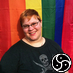 ext_5554: Photo of me with rainbow Pride flag in background and BDSM symbol in foreground (pic#775580)