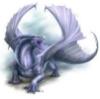 komiiro: A silver dragon on a white field. (Silver dragon) (Default)
