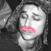 rude_bunny: Isaac Carpenter wearing a pink mustache (Default)