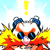 lovepeaceohana: Eggman's face with a quest-style exclamation point over his head. (eggy bright idea)
