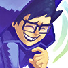 odditycollector: Close up of John Egbert in his god tier outfit laughing. (John Egbert)