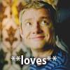 venturous: (John loves)