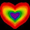 sonia: concentric rainbow heart (rainbow heart)