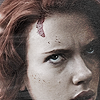 goodbyebird: Avengers: grungy close-crop of natasha looking fed up and determined. (Avengers party hard)