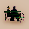 kindkit: Finch and Reese sitting on a bench together (POI: Finch and Reese on the bench)