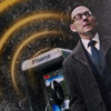kindkit: Finch standing by a pay phone looking tense (POI: Finch and phone)