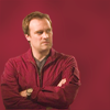 esteefee: Rodney crossing his arms in a red jumpsuit against a red background (red_rodney)