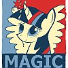 frith: Obama Motivation Poster style cartoon pony (FIM Twilight Magic)