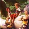 rionaleonhart: kingdom hearts: sora, riku and kairi having a friendly chat. (and they returned home)