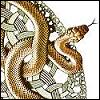 izmeina: a snippet of Escher's circle of serpents (escher, serpent, circle)