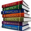 polyglotting: Books with different languages as titles. (Default)