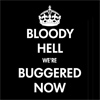 hellzabeth: (Text: Bloody hell we're buggered now)