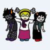 kayera: Rose auspistizing Gamzee and Terezi (Default)