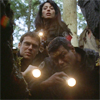 healingmirth: Daniel, Teal'c and Vala looking into a cave with flashlights (SG1)