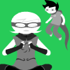 aedonrose: look it's a pretty johnroxy i made from homestuck pictures that's it (johnroxy)