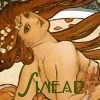 sinensis: Mucha's painting of a redheaded girl  (art)
