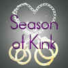 seasonofkink: metal hand and foot cuffs with a chain forming a loop in the shape of a heart (Season of Kink) (Default)