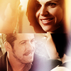 icequeen: (ouat: regina/robin: fireplace smiles)