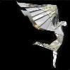 isweedan: Origami model of a winged human (Origami)