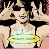 "isweedan: Neil Gaiman's Death in sunglasses saying ""Peachy Keen!"" (Peachy Keen - Sandman Neil Gaiman)"
