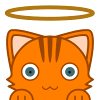 angelikitten: Cat with a halo (Random - What does this button do?)