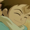 kerfufluns: screencap of naota from flcl smiling (flcl) (Default)