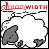dreamsheep: A white sheep dreams of Dreamwidth. (dreamsheep base)