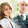 quietspring: Image: Draco and Hermione from the Harry Potter universe, side by side. (dramione)
