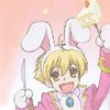 quietspring: Image: Hani from the anime Ouran Host Club, excitedly waving around a slice of cake on a fork. (cake)