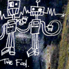 "darkemeralds: Grafitti on the Steel Bridge showing two robotic figures and signed ""The Fool"" (The Fool)"