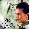 eleanorjane: Jadzia Dax, captioned 'go boldly' (jadzia, boldly go)