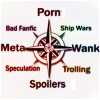 mecurtin: fandom compass: porn/wank/spoilers/meta and so around (fascinating)