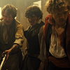 pro_patria_mortuus: Combeferre, Courfeyrac, and Enjolras, bloodied and minutes from death (the acceptance of death in full youth)
