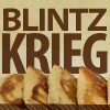 phineasfrogg: the text 'Blintz Krieg' accompanying a plate full of blintzes (blintz krieg!)