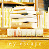 "talibusorabat: A pile of books labeled ""my escape"" (Books: My escape)"