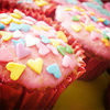 mostotherthings: cupcake with hearts (cupcakes)