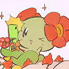 vivillion: (bellossom taking selfie)