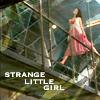 """genarti: River from Firefly on the catwalk's railings, with text """"strange little girl"""" ([ff] strange little girl)"""