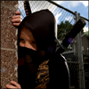 genarti: Young boy in ninja costume peering around a corner. ([misc] *NINJA*)