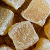 zingiber: crystallized (sugared) ginger (sweet)