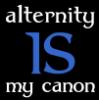 jenett: Text: alternity IS my canon (Alternity IS my canon - Ravenclaw)