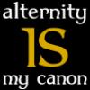 jenett: Text: alternity IS my canon (Alternity IS my canon - Hufflepuff)